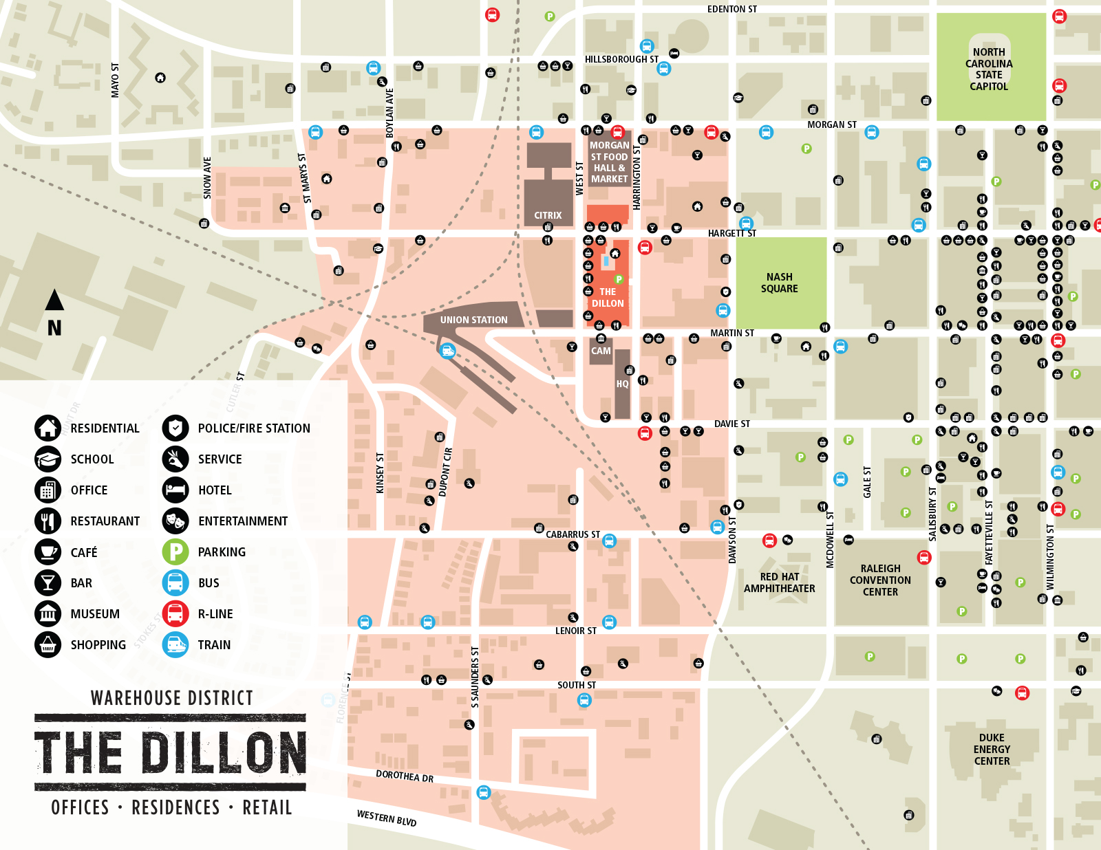 Warehouse District Map